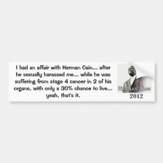I Had an Affair with Cain! Bumper Sticker