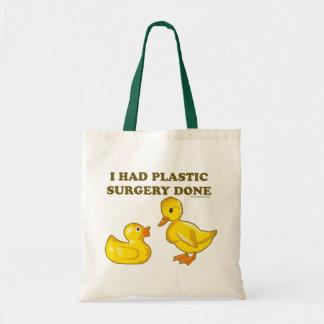 I Had Plastic Surgery Done Budget Tote Bag