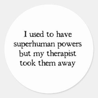 I Had Superpowers Sticker