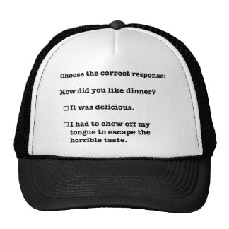 I had to chew off my tongue trucker hat