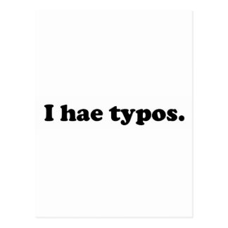 I hae typos - black postcard