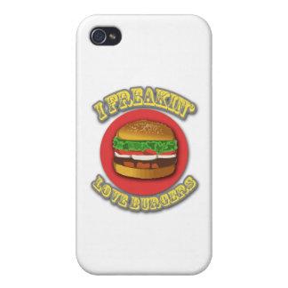 I hamburguesas del amor de Freakin iPhone 4/4S Carcasas