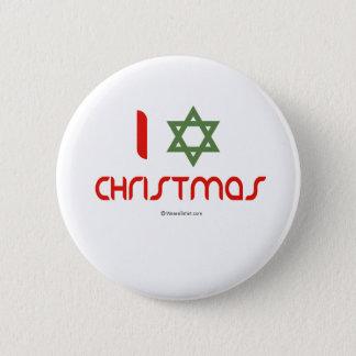 I Hanukkah Christmas green Pinback Button