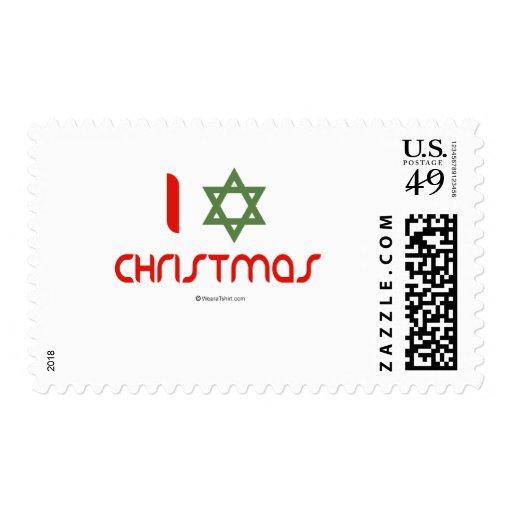 I Hanukkah Christmas green Postage
