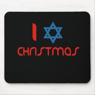 I Hanukkah Christmas Mouse Pad