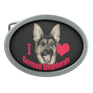 I Hart German Shepherd Belt Buckle