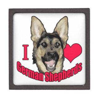 I Hart German Shepherd Jewelry Box