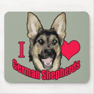 I Hart German Shepherd Mouse Pad