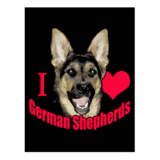 I Hart German Shepherd Postcard