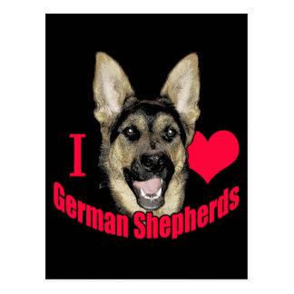 I Hart German Shepherd Postcard