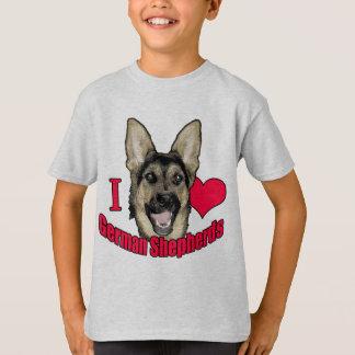 I Hart German Shepherd T-Shirt