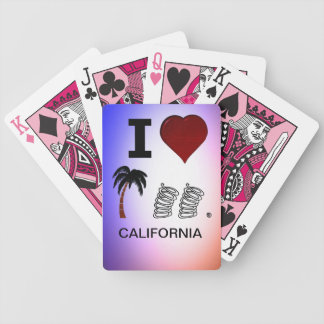 I Hart Palm Springs Cars Bicycle Playing Cards