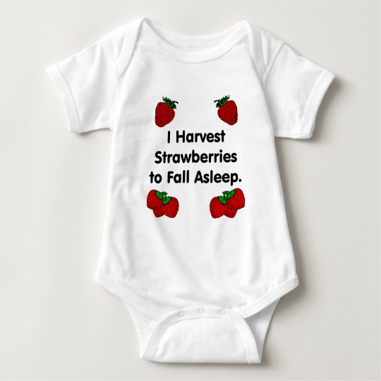 I harvest strawberries to fall asleep baby bodysuit