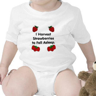 I harvest strawberries to fall asleep rompers