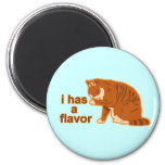 I has a flavor, LOL CAT 2 Inch Round Magnet