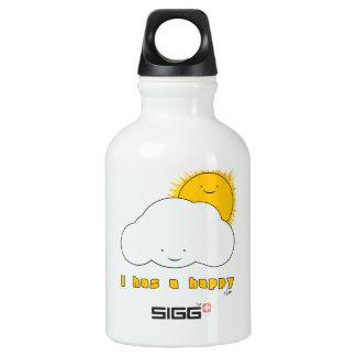 I Has A Happy Aluminum Water Bottle
