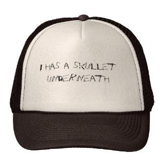 I has a skullet trucker hat