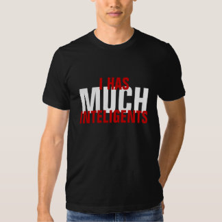 I HAS MUCH INTELIGENTS SHIRT