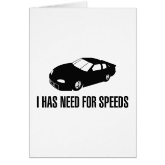 I Has Need for Speed Card
