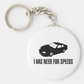 I Has Need for Speed Key Chain