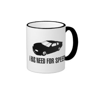 I Has Need for Speed Ringer Coffee Mug