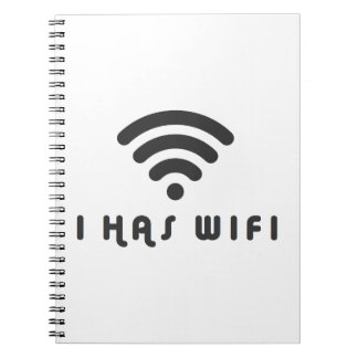I HAS WIFI INTERNET SPIRAL NOTE BOOKS