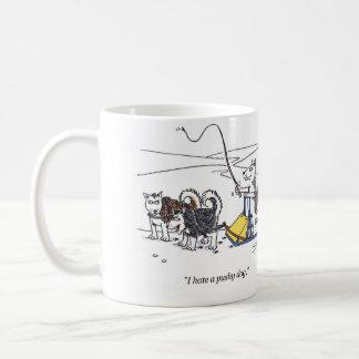 I hate a pushy dog cartoon right hand mug