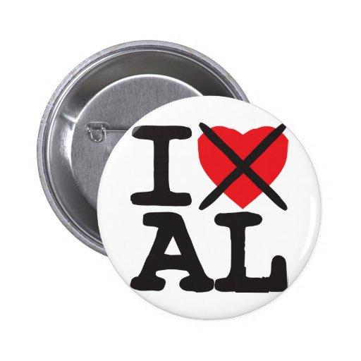 I Hate AL - Alabama 2 Inch Round Button