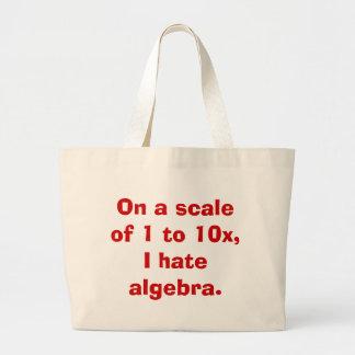 I Hate Algebra Book Bag