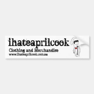 I Hate April Cook Promotional Bumper Sticker