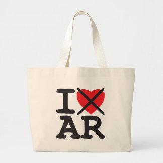 I Hate AR - Arkansas Large Tote Bag