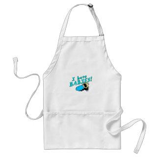 I hate babies! apron