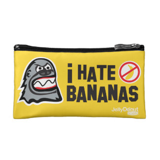 I hate bananas makeup bag