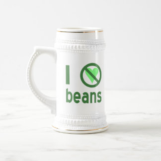 I Hate Beans Beer Stein