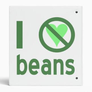 I Hate Beans 3 Ring Binder