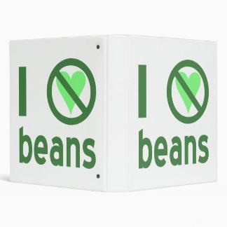 I Hate Beans 3 Ring Binders