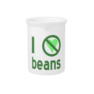 I Hate Beans Pitcher