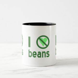I Hate Beans Two-Tone Coffee Mug