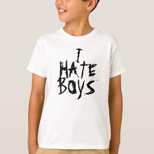 I, HATE, BOYS GIRLS SHIRT