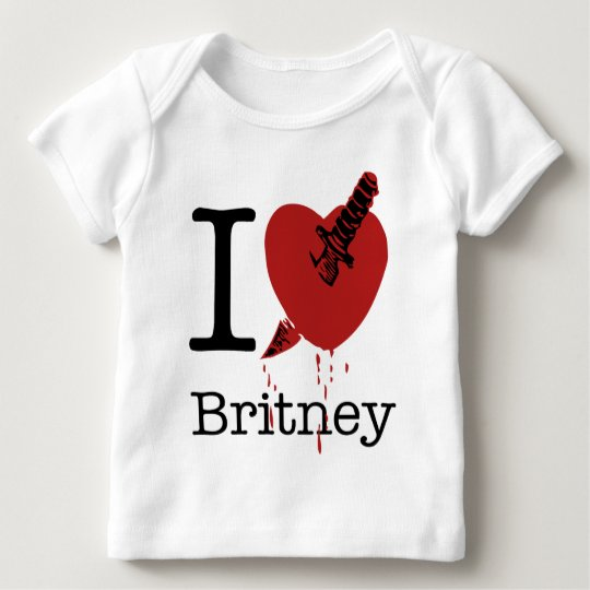 I Hate Britney Spoof I Love Baby T-Shirt