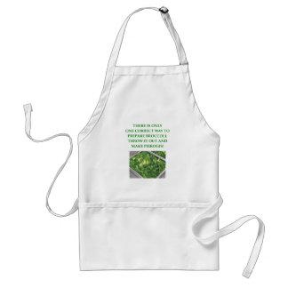 i hate broccoli adult apron