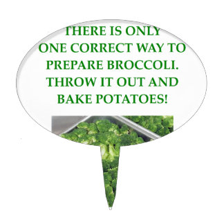 i hate broccoli cake toppers