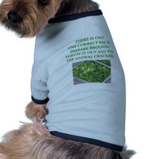 i hate broccoli doggie tshirt
