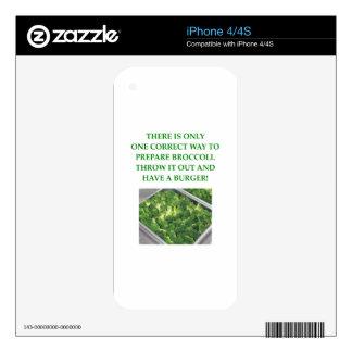 i hate broccoli iPhone 4S decals