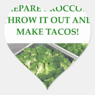 i hate broccoli heart sticker