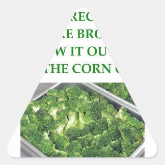 i hate broccoli triangle sticker