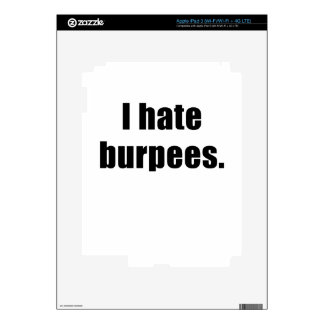 I Hate Burpees Decals For iPad 3