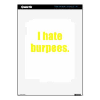 I Hate Burpees Skin For iPad 3
