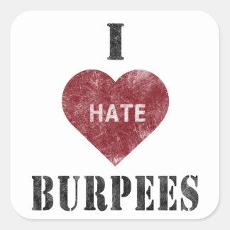 I hate burpees sticker