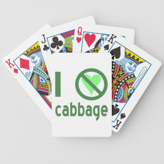 I Hate Cabbage Bicycle Playing Cards